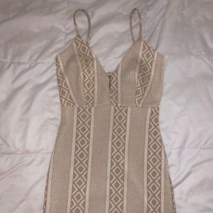 Windsor gold mini dress